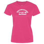 Softball - Ultimate Pullover Hooded Sweatshirt - Ladies 5.4 oz 100% Cotton T Shirt - LPC54