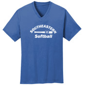 Softball - Ultimate Pullover Hooded Sweatshirt - 5.4 oz 100% Cotton V Neck T Shirt - PC54V