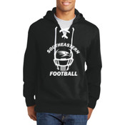 Southeastern Football - Lace Up Pullover Hooded Sweatshirt (Front View Display)