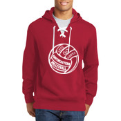 Southeastern Volleyball - Lace Up Pullover Hooded Sweatshirt