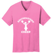 Southeastern Cheer - 5.4 oz 100% Cotton V Neck T Shirt - PC54V