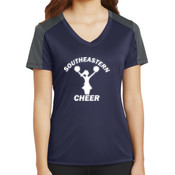 Southeastern Cheer - Ladies PosiCharge ® Competitor ™ Sleeve Blocked V Neck Tee
