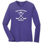 Southeastern Hockey - Ladies Long Sleeve 5.4 oz 100% Cotton T Shirt - LPC54LS