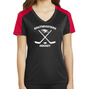 Southeastern Hockey - Ladies PosiCharge ® Competitor ™ Sleeve Blocked V Neck Tee