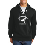Southeastern Wrestling  - Lace Up Pullover Hooded Sweatshirt (Front View Display)