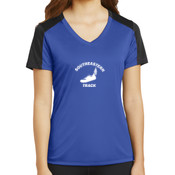 Southeastern Track  - Ladies PosiCharge ® Competitor ™ Sleeve Blocked V Neck Tee