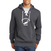 Southeastern Track  - Lace Up Pullover Hooded Sweatshirt