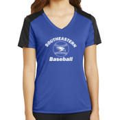 Southeastern Baseball - Ladies PosiCharge ® Competitor ™ Sleeve Blocked V Neck Tee