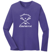 Southeastern Lacrosse - Ladies Long Sleeve 5.4 oz 100% Cotton T Shirt - LPC54LS