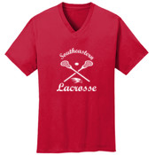 Southeastern Lacrosse - 5.4 oz 100% Cotton V Neck T Shirt - PC54V