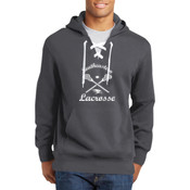 Southeastern Lacrosse - Lace Up Pullover Hooded Sweatshirt (Front View Display)