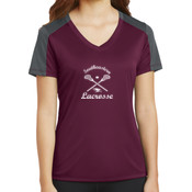 Southeastern Lacrosse - Ladies PosiCharge ® Competitor ™ Sleeve Blocked V Neck Tee