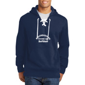 Southeastern Softball - Lace Up Pullover Hooded Sweatshirt (Front View Display)