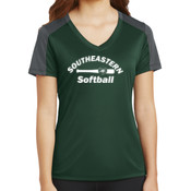 Southeastern Softball - Ladies PosiCharge ® Competitor ™ Sleeve Blocked V Neck Tee
