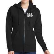 Advertising Design -  - Ladies Full Zip Hooded Sweatshirt - SE