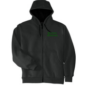 Precision Machining - Heavyweight Full Zip Hooded Sweatshirt with Thermal Lining - SE
