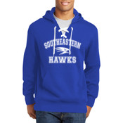 Southeastern Hawks Lace Up Pullover Hooded Sweatshirt