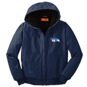EMBROIDERED  Staff - Washed Duck Cloth Insulated Hooded Work Jacket
