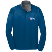 EMBROIDERED  Staff - Vertical Texture 1/4 Zip Pullover