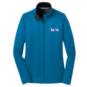 EMBROIDERED  Staff - Ladies Vertical Texture Full Zip Jacket