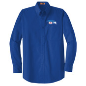 EMBROIDERED Staff - Long Sleeve SuperPro Twill Shirt