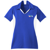 EMBROIDERED Staff - Ladies Side Blocked Micropique Sport Wick ® Polo LST655