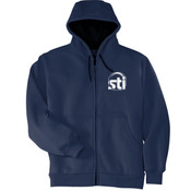 STI - Heavyweight Full Zip Hooded Sweatshirt with Thermal Lining