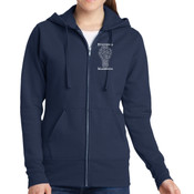 Marketing - Ladies Classic Full Zip Hooded Sweatshirt