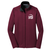 EMBROIDERED STI -  - Ladies Vertical Texture Full Zip Jacket