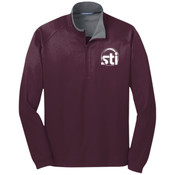 EMBROIDERED STI -  - Vertical Texture 1/4 Zip Pullover