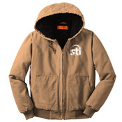 EMBROIDERED STI -  - Washed Duck Cloth Insulated Hooded Work Jacket